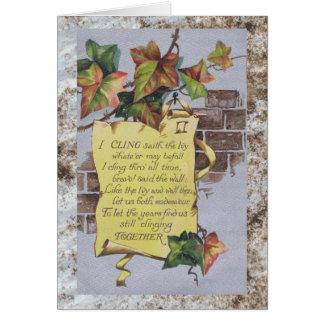 Ivy Anniversary Card