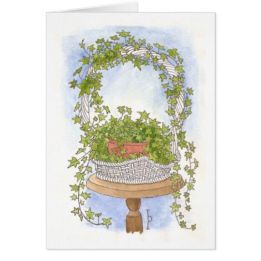 Ivy Basket - Watercolor Card