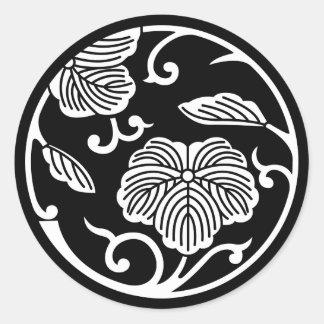 Ivy branch circle classic round sticker