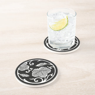Ivy branch circle drink coaster