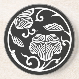 Ivy branch circle drink coasters
