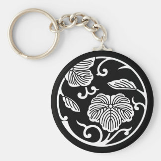 Ivy branch circle keychain