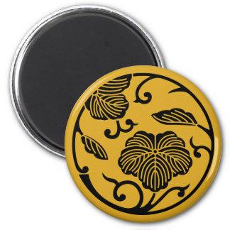 Ivy branch circle magnet