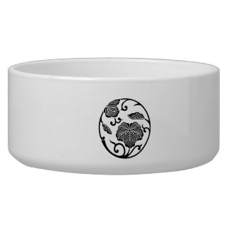 Ivy branch circle pet food bowl