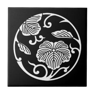 Ivy branch circle tile
