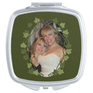 Ivy Circle Photo Frame Travel Mirror