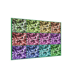 Ivy Colour Progression Wrapped Canvas Extra Large
