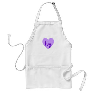 Ivy in Purple Standard Apron