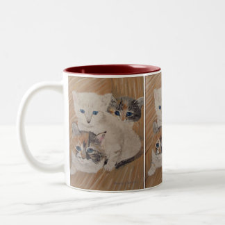 Ivy, Iris & Dixie Painting Two-Tone Coffee Mug