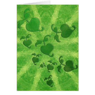 Ivy leaves and kaleidoscope in green card