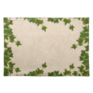 Ivy on beige placemats