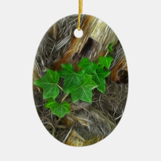 Ivy on Palm Tree 1 Glare 2 Ceramic Ornament