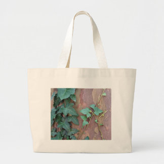ivy on tree large tote bag