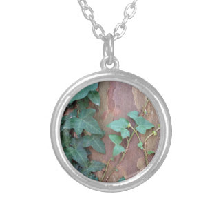 ivy on tree silver plated necklace