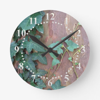 ivy on tree wall clock