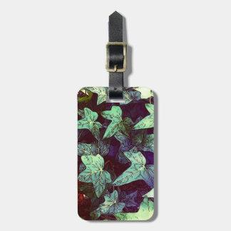 Ivy print luggage tag