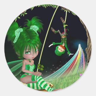 """""""Ivy"""" St. Patrick's day Round Sticker"""