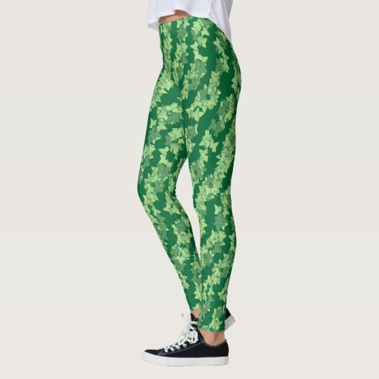 Ivy Vines, Shades of Dark to Light Green Leggings