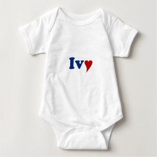 Ivy with Heart Baby Bodysuit