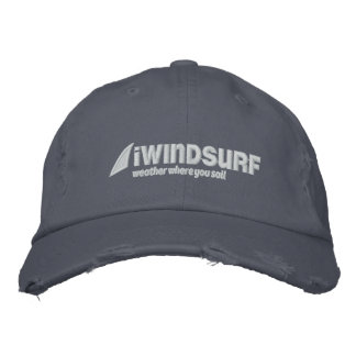 iW Blue Distressed Hat Baseball Cap