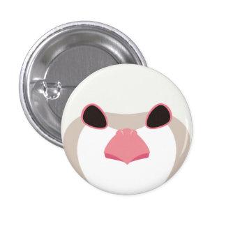iwashiyako (albino) - Chukar (albino) 1 Inch Round Button