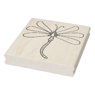 "IWD Dragon Fly One 4"" x 5"" Rubber Stamp"