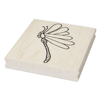 """IWD Dragon Fly Two 4"""" x 5"""" Rubber Stamp"""