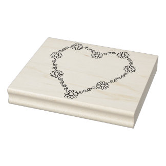 """IWD Heart Frame 4"""" x 5"""" Rubber Stamp"""