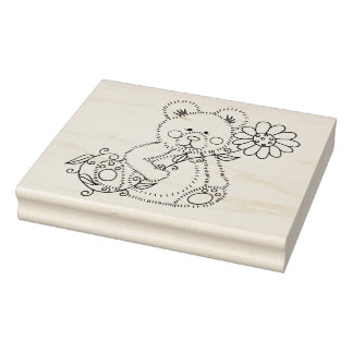 "IWD Teddy One 4"" x 5"" Rubber Stamp"
