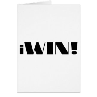 iWin! Greeting Card