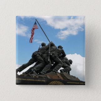 Iwo Jima Memorial in Washington DC 2 Inch Square Button