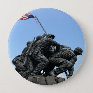 Iwo Jima Memorial in Washington DC 4 Inch Round Button
