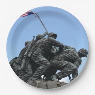 Iwo Jima Memorial in Washington DC 9 Inch Paper Plate
