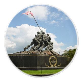 Iwo Jima Memorial in Washington DC Ceramic Knob
