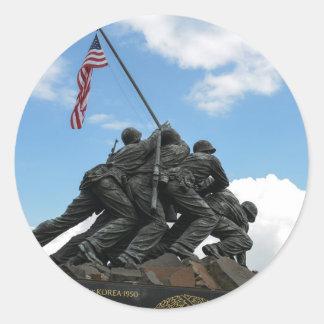 Iwo Jima Memorial in Washington DC Classic Round Sticker