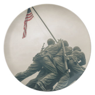 Iwo Jima Memorial in Washington DC Dinner Plate