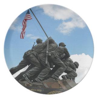 Iwo Jima Memorial in Washington DC Dinner Plates
