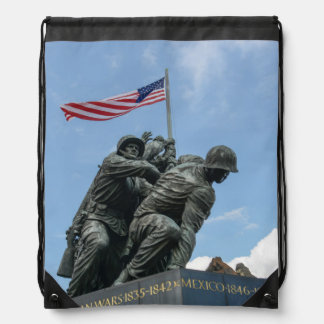 Iwo Jima Memorial in Washington DC Drawstring Bag