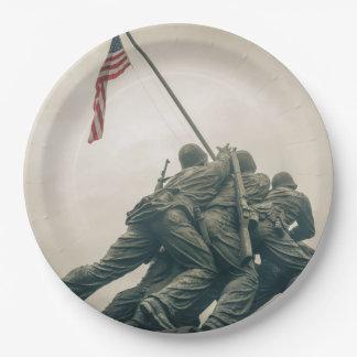 Iwo Jima Memorial in Washington DC Paper Plate