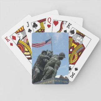 Iwo Jima Memorial in Washington DC Playing Cards