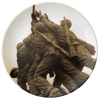 Iwo Jima Memorial in Washington DC Porcelain Plates