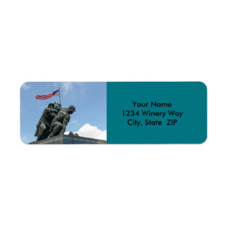 Iwo Jima Memorial in Washington DC Return Address Label