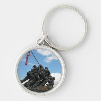 Iwo Jima Memorial in Washington DC Silver-Colored Round Keychain