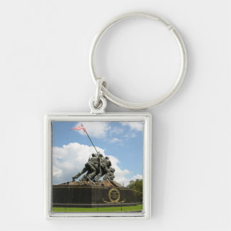 Iwo Jima Memorial in Washington DC Silver-Colored Square Keychain