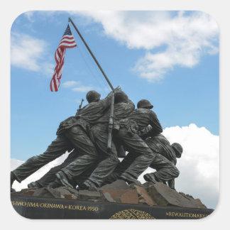 Iwo Jima Memorial in Washington DC Square Sticker