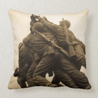 Iwo Jima Memorial in Washington DC Throw Pillow