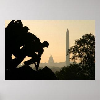 Iwo Jima Morning Poster