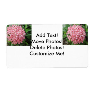 Ixora Pink Garden Plant Shipping Label