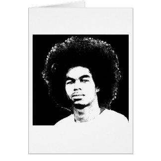 "Iyayi Afro Stamdard 5"" x 7"" Blank Card"