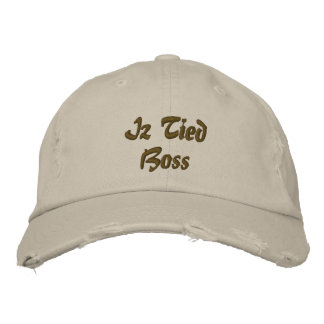 Iz Tied Boss Embroidered Hat